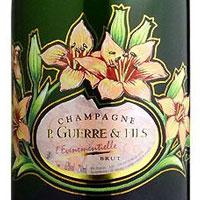 綺麗なエッチングボトルのシャンパンセレクション